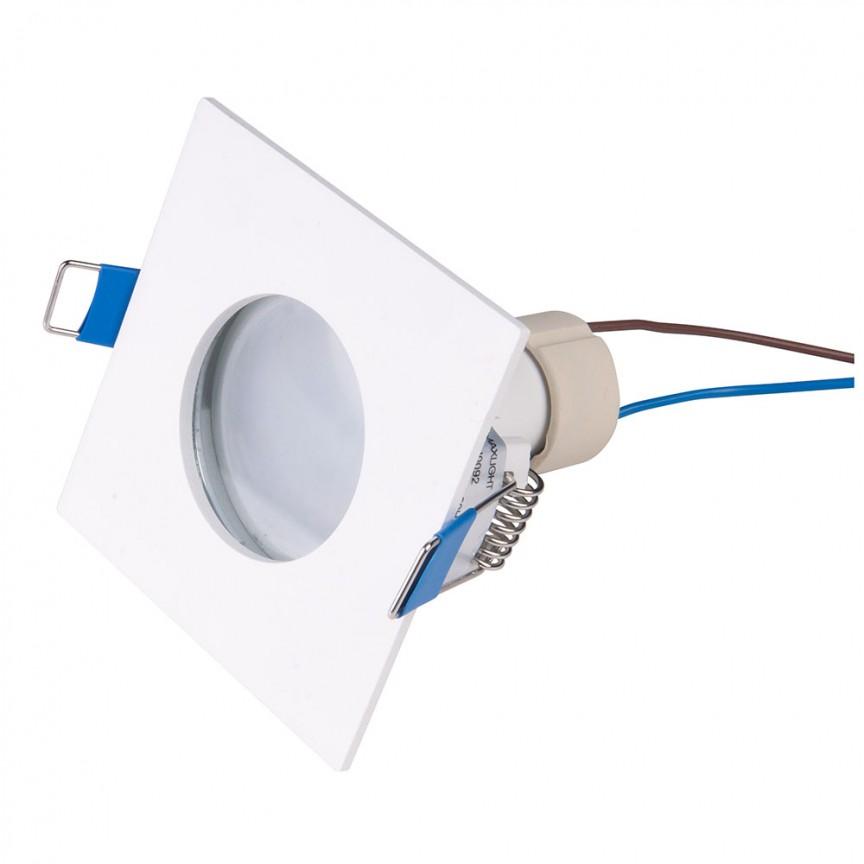 Spot incastrabil tavan fals / plafon IP44 SQUARE alb H0092 MX, Plafoniere cu protectie pentru baie, LED⭐ modele moderne de lux potrivite în baie. ✅Design premium actual Top 2020! ❤️Promotii lampi❗ ➽ www.evalight.ro. Corpuri de iluminat baie pt interior de tip lustre si spoturi aplicate sau incastrate, (tavan fals rigips, oglinda), cu led-uri si lumini puternice, rotunde si patrate, rezistente la apa (umiditate), ieftine de calitate deosebita la cel mai bun pret! a