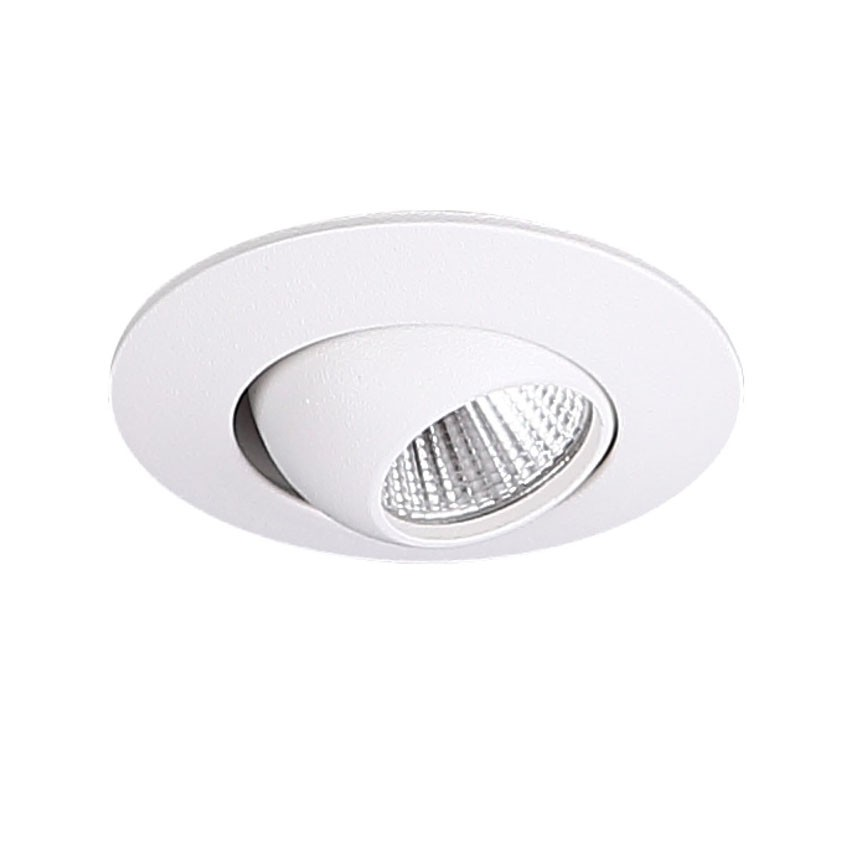 Spot LED directionabil incastrabil tavan fals YUCA ROUND TILTED alb H0104 MX, Spoturi incastrate tavan / perete, LED⭐ modele moderne pentru baie, living, dormitor, bucatarie, hol.✅Design decorativ 2021!❤️Promotii lampi❗ ➽ www.evalight.ro. Alege oferte la colectile NOI de corpuri de iluminat interior de tip spot-uri incastrabile cu LED, cu lumina calda, alba rece sau neutra, montare in tavanul fals rigips, mobila, pardoseala, beton, ieftine de calitate la cel mai bun pret. a