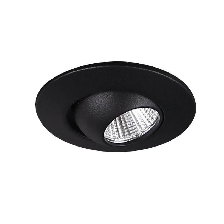 Spot LED directionabil incastrabil tavan fals YUCA ROUND TILTED negru H0105 MX, Spoturi incastrate tavan / perete, LED⭐ modele moderne pentru baie, living, dormitor, bucatarie, hol.✅Design decorativ 2021!❤️Promotii lampi❗ ➽ www.evalight.ro. Alege oferte la colectile NOI de corpuri de iluminat interior de tip spot-uri incastrabile cu LED, cu lumina calda, alba rece sau neutra, montare in tavanul fals rigips, mobila, pardoseala, beton, ieftine de calitate la cel mai bun pret. a