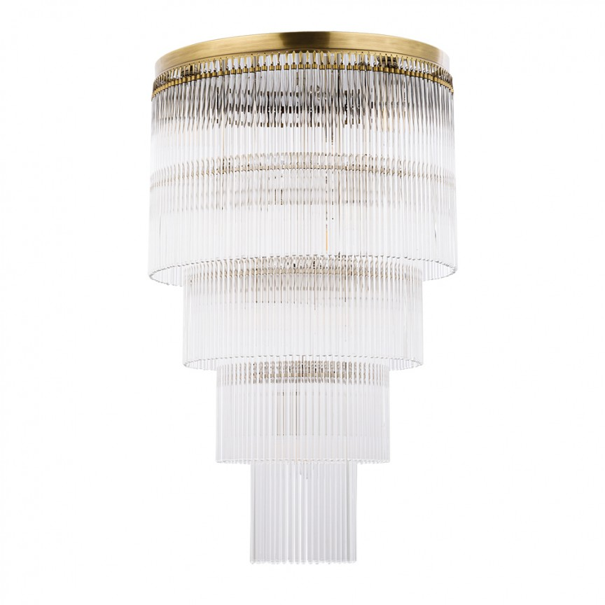 Lustra design LUX diametru 45cm din alama decorata cu sticla Filago, Corpuri de iluminat clasice ⭐ modele lustre decorative pentru iluminat interior: living, baie, sufragerie, bucatarie, hol, dormitor, birou, copii.✅Design actual Top 2020.❤️Promotii lampi❗ ➽www.evalight.ro ➽ sursa ta de lumina online❗ Alege oferte la corpuri iluminat de tip suspensii, suspendate sau aplicate de tavan (perete), candelabre elegante stil traditional, scandinav, retro sau vintage, industrial pt toate camerele din casa, ieftine si de lux la preturi reduse❗ ➽ Showroom in Bucuresti si Timisoara.  a