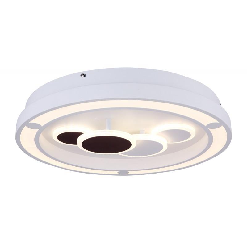 Plafoniera LED dimabila cu telecomanda design modern NOLO alb 48405-50 GL, Lustre / Lampi LED cu telecomanda ⭐ modele moderne potrivite pentru dormitor, living.✅ Design premium actual Top 2020! ❤️Promotii lampi❗ ➽ www.evalight.ro. Alege oferte la corpuri de iluminat cu LED si telecomanda, dimabile (intensitate reglabila), 3 functii, (becuri cu leduri si module LED integrate cu lumina calda, naturala sau rece), ieftine si de lux, calitate deosebita la cel mai bun pret. a