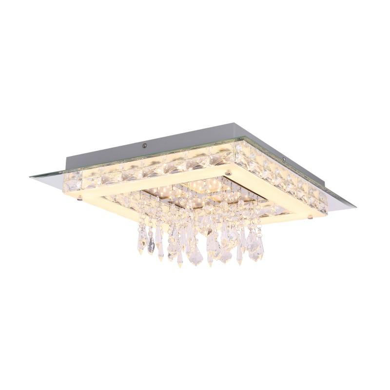 Plafoniera LED design modern Tarragona 49339-36 GL, Plafoniere LED / Lustre tavan / perete cu LED⭐ modele moderne pentru dormitor, living, bucatarie, baie, hol.✅Design premium actual Top 2020!❤️Promotii lampi LED❗ ➽ www.evalight.ro. Alege oferte la corpuri de iluminat LED interior de tip  plafoniere LED, aplice cu spoturi LED, montare aplicate pe tanan fals (plafon rigips) sau perete, potrivite pt camere casa cu tavane joase, forme (rotunde, patrate), cu senzor, bec-uri LED economice cu panou LED integrat, lumina calda, rece, lumina neutra (naturala), ieftine si de lux in stil elegant, calitate deosebita la cel mai bun pret. a