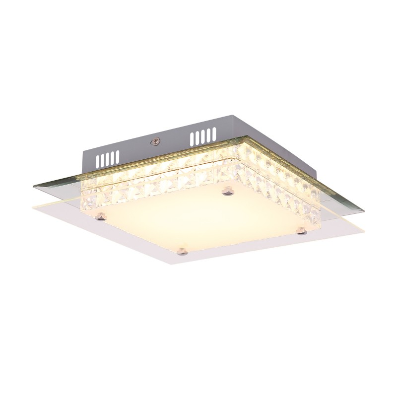 Plafoniera LED design modern Mataro 49344-18 GL, Plafoniere LED / Lustre tavan / perete cu LED⭐ modele moderne pentru dormitor, living, bucatarie, baie, hol.✅Design premium actual Top 2020!❤️Promotii lampi LED❗ ➽ www.evalight.ro. Alege oferte la corpuri de iluminat LED interior de tip  plafoniere LED, aplice cu spoturi LED, montare aplicate pe tanan fals (plafon rigips) sau perete, potrivite pt camere casa cu tavane joase, forme (rotunde, patrate), cu senzor, bec-uri LED economice cu panou LED integrat, lumina calda, rece, lumina neutra (naturala), ieftine si de lux in stil elegant, calitate deosebita la cel mai bun pret. a