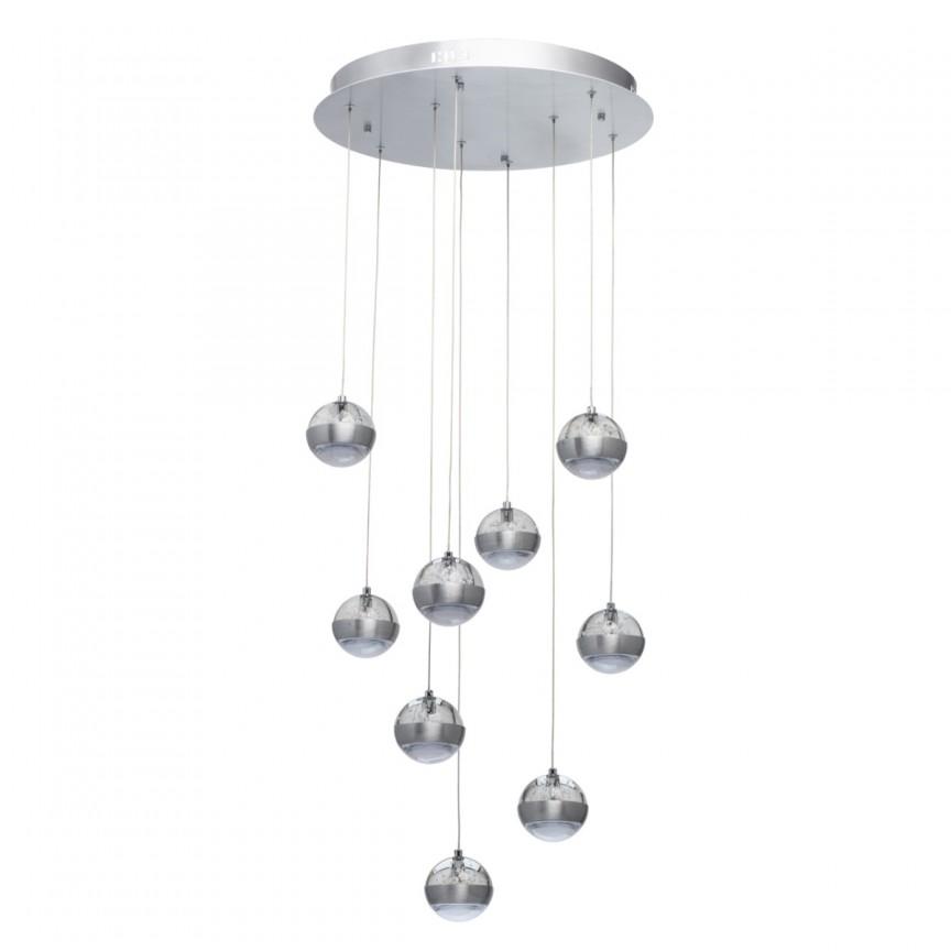 Lustra cu 9 pendule LED si telecomanda Megapolis 730010209 MW, Lustre / Lampi LED cu telecomanda ⭐ modele moderne potrivite pentru dormitor, living.✅ Design premium actual Top 2020! ❤️Promotii lampi❗ ➽ www.evalight.ro. Alege oferte la corpuri de iluminat cu LED si telecomanda, dimabile (intensitate reglabila), 3 functii, (becuri cu leduri si module LED integrate cu lumina calda, naturala sau rece), ieftine si de lux, calitate deosebita la cel mai bun pret. a