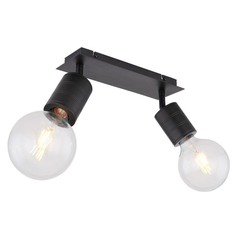 Plafoniera, lustra cu 2 spoturi design modern HERMINE 54030-2 GL, Aplice aplicate perete sau tavan cu spoturi, LED⭐ modele moderne corpuri de iluminat tip spoturi pe bara.✅Design decorativ 2021!❤️Promotii lampi❗ ➽ www.evalight.ro. Alege oferte aplice de iluminat interior, lustre si plafoniere cu 2 spoturi cu lumina LED si directie reglabila, spot orientabil cu intrerupator, simple si ieftine de calitate la cel mai bun pret. a