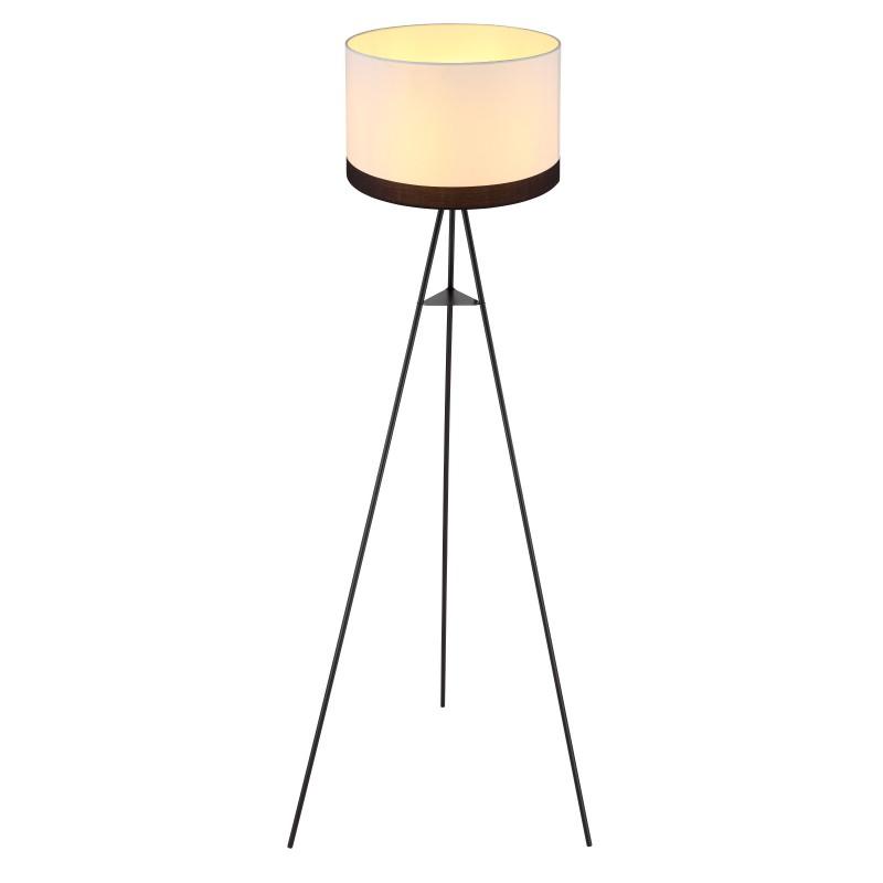 Lampadar cu trepied design modern Maggy alb, negru 15385S GL, Lampadare moderne si lampi de podea cu picior inalt⭐ modele deosebite stil scandinav, retro sau vintage pentru living si dormitor.✅Design premium actual Top 2020!❤️Promotii lampi❗ ➽ www.evalight.ro. Alege oferte la lampadare de lux pt iluminat interior decorativ, rustice, clasice, industrial, cu reader LED, elegante cu cristale, cu masuta, cu picior tip trepied lemn, reglabil, telescopic curbat tip arc, abajur din sticla, tesatura cu flori, ieftine si de calitate la cel mai bun pret. a