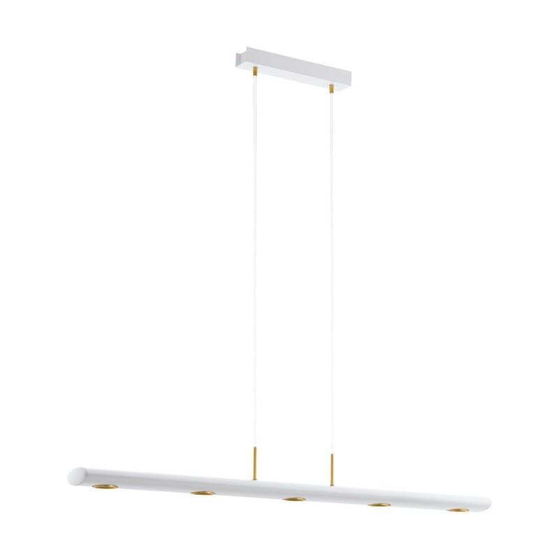 Lustra LED dimabila design modern CANELAS alb/ auriu 39371 EL,  a