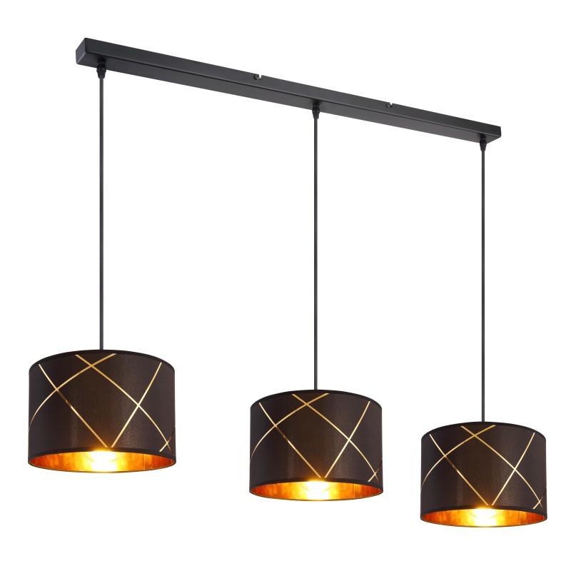 Lustra cu 3 pendule design modern BEMMO negru, auriu 15431-3H GL,  a