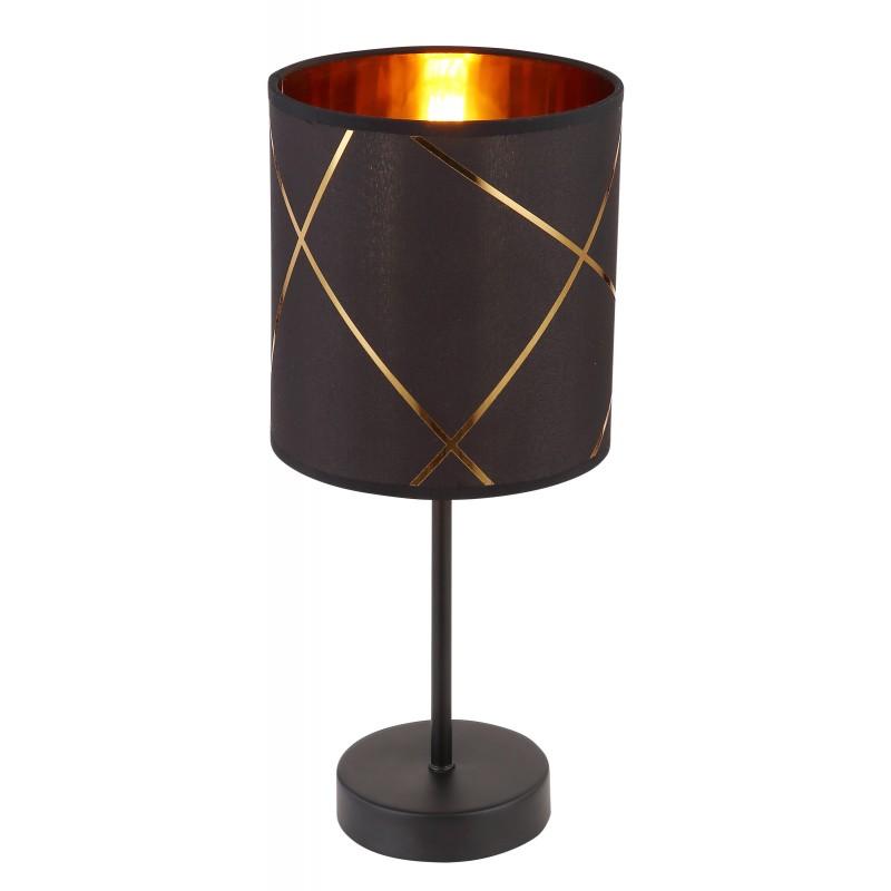 Veioza design modern BEMMO negru, auriu 15431T GL,  a