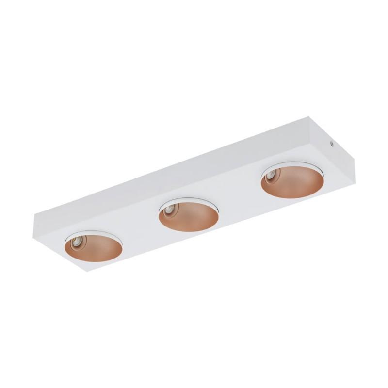 Plafoniera dimabila cu 3 spoturi directionabile RONZANO alb/ auriu rose 39375 EL, Plafoniere LED / Lustre tavan / perete cu LED⭐ modele moderne pentru dormitor, living, bucatarie, baie, hol.✅Design premium actual Top 2020!❤️Promotii lampi LED❗ ➽ www.evalight.ro. Alege oferte la corpuri de iluminat LED interior de tip  plafoniere LED, aplice cu spoturi LED, montare aplicate pe tanan fals (plafon rigips) sau perete, potrivite pt camere casa cu tavane joase, forme (rotunde, patrate), cu senzor, bec-uri LED economice cu panou LED integrat, lumina calda, rece, lumina neutra (naturala), ieftine si de lux in stil elegant, calitate deosebita la cel mai bun pret. a