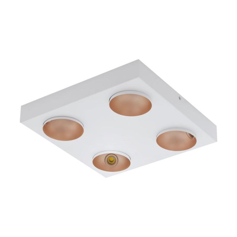 Plafoniera dimabila cu 4 spoturi directionabile RONZANO alb/ auriu rose 39377 EL, Plafoniere LED / Lustre tavan / perete cu LED⭐ modele moderne pentru dormitor, living, bucatarie, baie, hol.✅Design premium actual Top 2020!❤️Promotii lampi LED❗ ➽ www.evalight.ro. Alege oferte la corpuri de iluminat LED interior de tip  plafoniere LED, aplice cu spoturi LED, montare aplicate pe tanan fals (plafon rigips) sau perete, potrivite pt camere casa cu tavane joase, forme (rotunde, patrate), cu senzor, bec-uri LED economice cu panou LED integrat, lumina calda, rece, lumina neutra (naturala), ieftine si de lux in stil elegant, calitate deosebita la cel mai bun pret. a