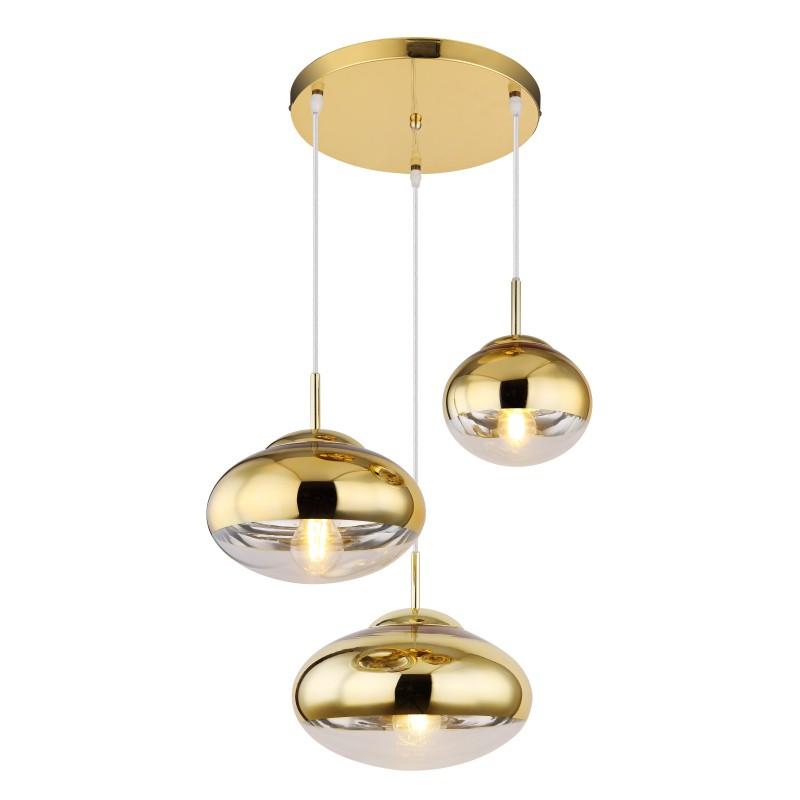 Lustra cu 3 pendule design modern ANDREW auriu 15445-3HG GL,  a