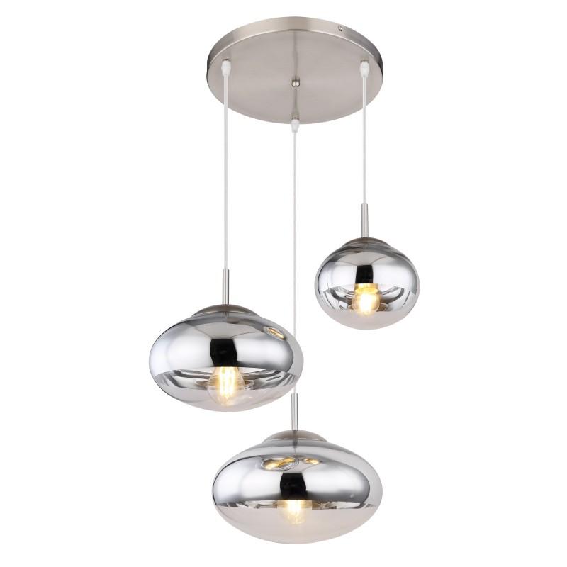 Lustra cu 3 pendule design modern ANDREW nichel mat 15445-3HC GL,  a