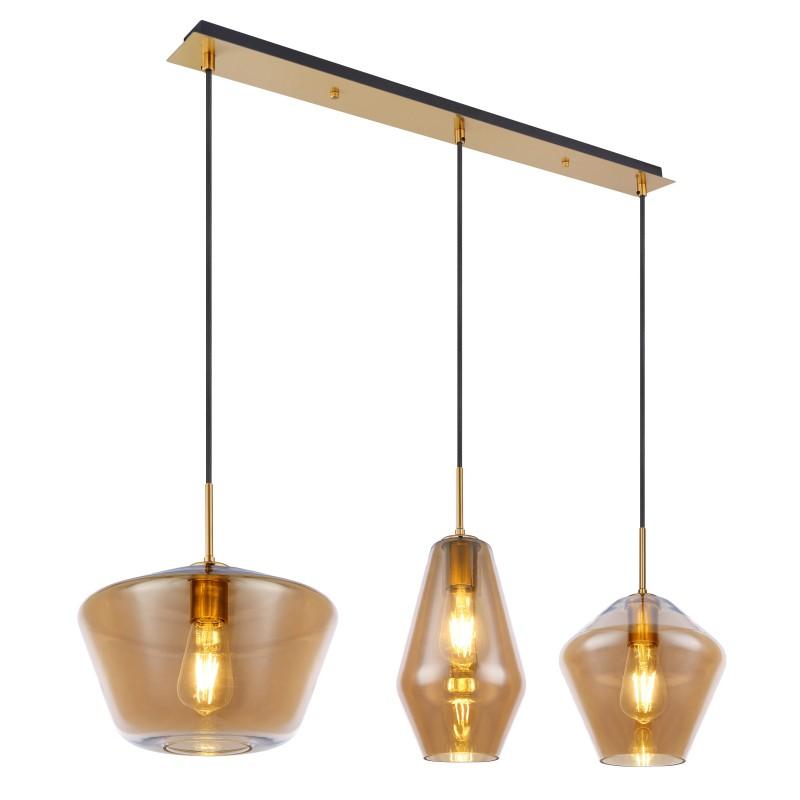 Lustra suspendata cu 3 pendule design modern COBY I chihlimbar 15435H2 GL,  a