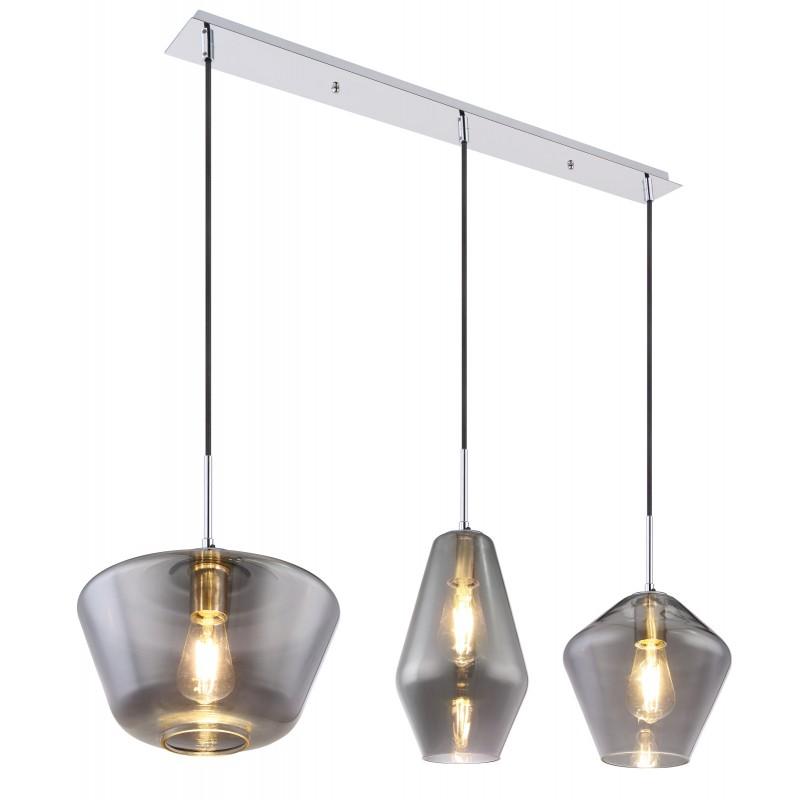 Lustra suspendata cu 3 pendule design modern COBY fumuriu 15436H2 GL,  a