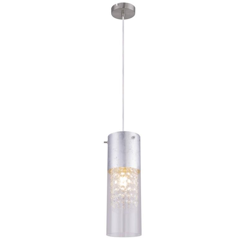 Pendul design modern WEMMO nichel mat 15908-1S GL,  a