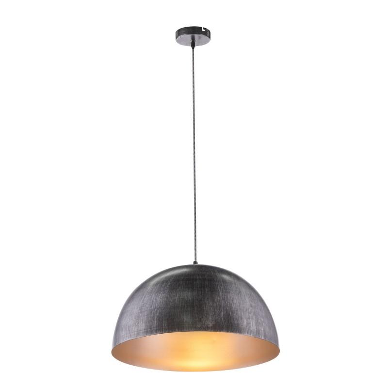 Pendul design modern SANDRA negru argintiu 58323HS GL,  a