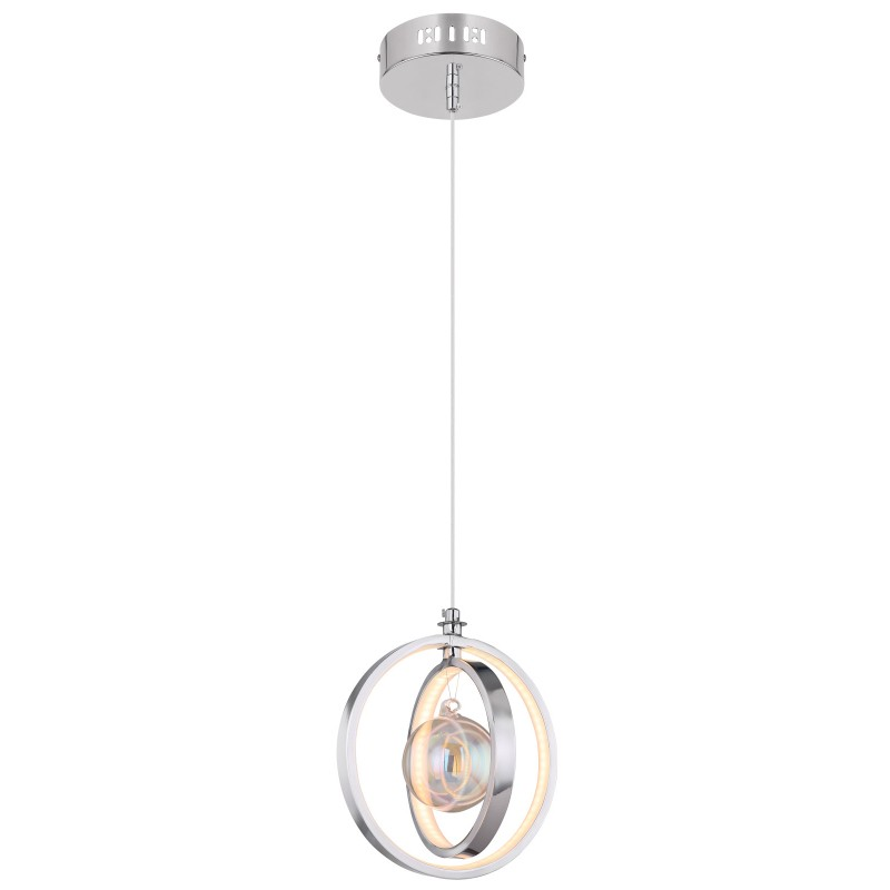 Pendul LED design modern KIZZY crom 15606-20 GL,  a