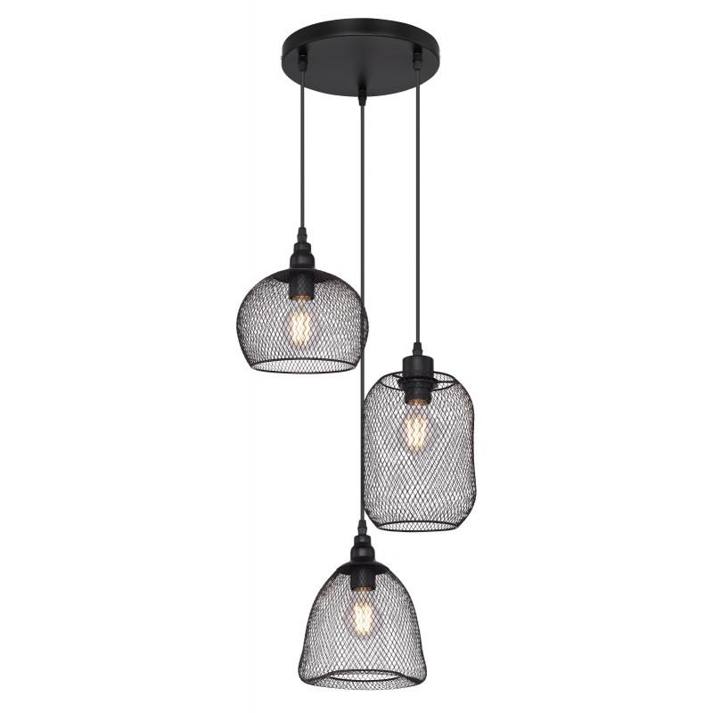 Lustra suspendata design modern ANYA negru 15047H3 GL, Promotii si Reduceri⭐ Oferte ✅Corpuri de iluminat ✅Lustre ✅Mobila ✅Decoratiuni de interior si exterior.⭕Pret redus online➜Lichidari de stoc❗ Magazin ➽ www.evalight.ro. a