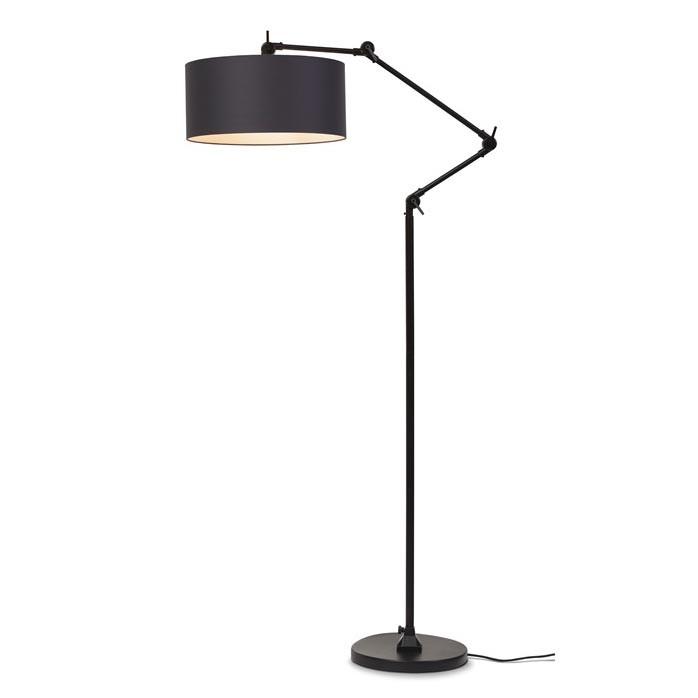 Lampadar modern cu brat articulat Amsterdam abajur gri inchis, Cele mai noi produse 2021 a