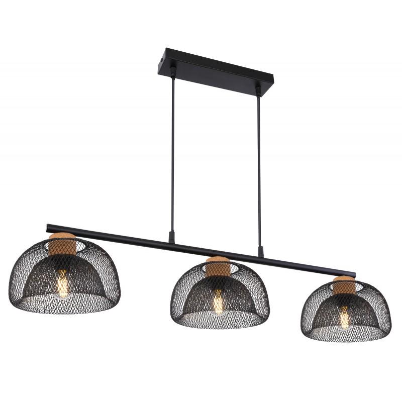 Lustra cu 3 surse de iluminat design modern VITIANO negru 15393-3 GL, Cele mai noi produse 2021 a