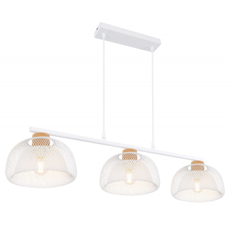 Lustra cu 3 surse de iluminat design modern VITIANO alb 15393-3W GL, Cele mai noi produse 2021 a