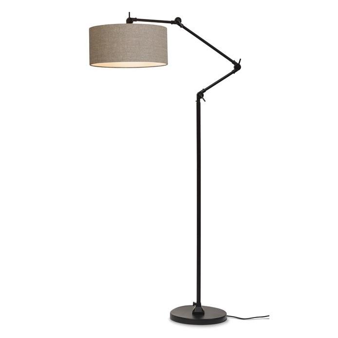 Lampadar modern cu brat articulat Amsterdam abajur dark linen, Cele mai noi produse 2021 a