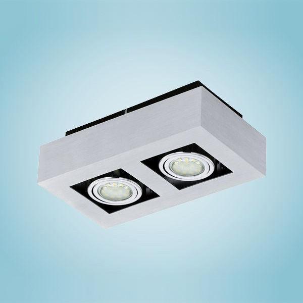 Aplica, Plafonier cu 2 spoturi reglabile GU10 LED Loke1 91353 EL, Spoturi incastrate, aplicate - tavan / perete, Corpuri de iluminat, lustre, aplice, veioze, lampadare, plafoniere. Mobilier si decoratiuni, oglinzi, scaune, fotolii. Oferte speciale iluminat interior si exterior. Livram in toata tara.  a