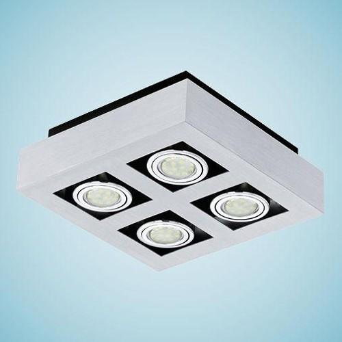 Aplica, Plafoniera cu 4 spoturi reglabile GU10 LED Loke1 91355 EL, Spoturi incastrate, aplicate - tavan / perete, Corpuri de iluminat, lustre, aplice, veioze, lampadare, plafoniere. Mobilier si decoratiuni, oglinzi, scaune, fotolii. Oferte speciale iluminat interior si exterior. Livram in toata tara.  a