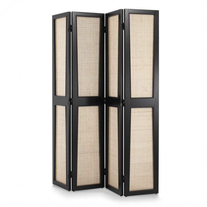 Paravan design LUX din rattan si lemn Juliane negru 114303 HZ, Mobilier decorativ modern⭐ mobila si decoratiuni interioare de lux cu design Vintage & Retro pentru living si dormitor.❤️Promotii mobila clasica, scandinava, nordica, minimalista, rustica❗ Intra si vezi poze ➽ www.evalight.ro. ➽ sursa ta de inspiratie online❗ ✅ Vezi cele mai noi modele, obiecte si colectii originale premium, stil actual în trend cu moda Top 2020❗ Paravane despartitoare, garderobe si cuiere hol, mese laterale si masute de cafea tip gheridon cu rotile, cufere stil baroc, rafturi Art Deco, dulapuri tip bar, banchete si suporti pt pantofi, din lemn masiv, metalice, accesorii casa, intra ➽vezi oferte si reduceri cu vanzare rapida din stoc, ieftine si de calitate deosebita la cel mai bun pret. a