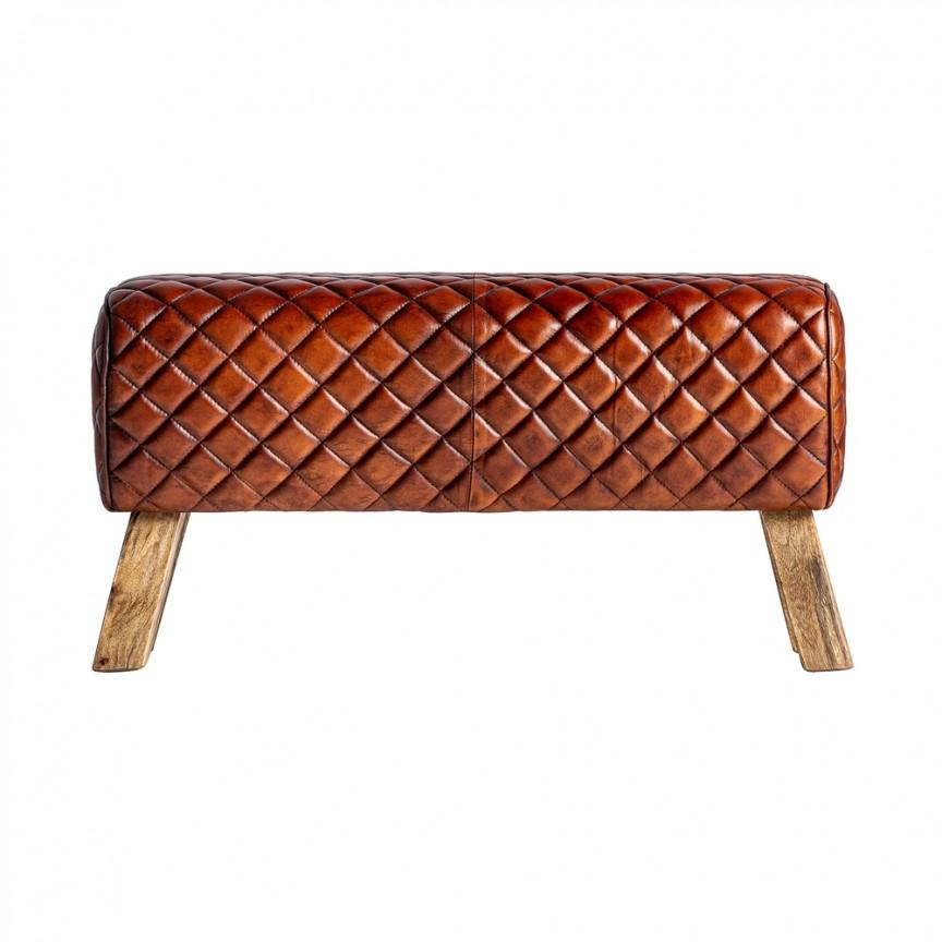 Bancheta design vintage din lemn de mango si piele naturala Ottawa 28581 VH, Tabureti / Banchete moderne⭐ modele elegante tapitate cu spatiu de depozitare sau pat, ideale pentru hol, dormitor, bucatarie, living.❤️Promotii❗ Intra si vezi poze ➽ www.evalight.ro. ➽ sursa ta de inspiratie online❗ ✅Design de lux original premium actual Top 2020❗ Alege scaune tip taburet, bancuta, bancheta tapitata cu spatar si lada de depozitare pt amenajare casa, tapiterii colorate, din piele naturala (ecologica), stofa, material textil, catifea, cu picioare metalice sau din lemn, clasice, vintage (retro si industriale), intra ➽vezi oferte si reduceri cu vanzare rapida din stoc, ieftine si de calitate deosebita la cel mai bun pret.   a