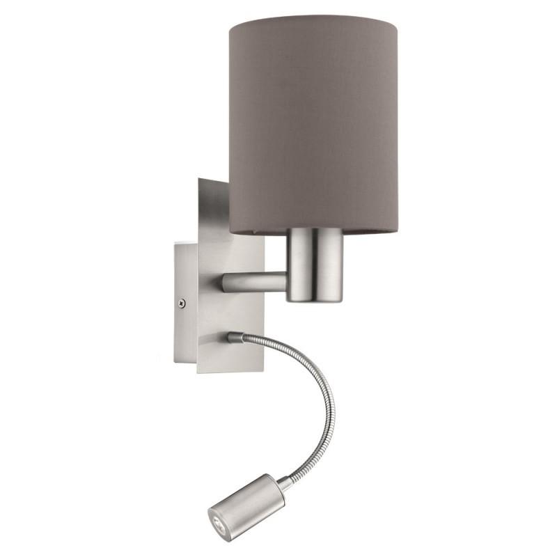 Aplica de perete cu reader LED design modern PASTERI maro antracit 96481 EL, Cele mai noi produse 2021 a