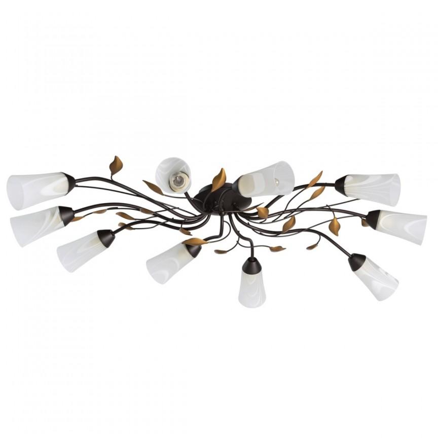 Lustra aplicata eleganta design clasic floral Verona 242015410 MW, Lustre aplicate / Plafoniere clasice, tavan⭐ modele de lux pentru dormitor, living, bucatarie, hol.✅DeSiGn decorativ 2021!❤️Promotii lampi❗ ➽ www.evalight.ro. Alege oferte la corpuri de iluminat interior stil clasic (rotunde si patrate) pt perete camera, din metal cu cu abajur sticla tiffany, decor cu cristale, material textil, lemn, becuri LED, ieftine de calitate deosebita la cel mai bun pret. a