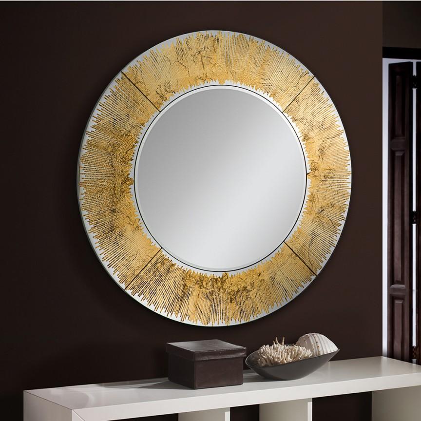 Oglinda decorativa AURORA ROUND 100cm, auriu SV-593375, Oglinzi decorative moderne✅ decoratiuni de perete cu oglinda⭐ modele mari si rotunde pentru Hol, Living, Dormitor si Baie.❤️Promotii la oglinzi cu design decorativ❗ Intra si vezi poze ✚ pret ➽ www.evalight.ro. ➽ sursa ta de inspiratie online❗ Alege oglinzi deosebite Art Deco de lux pentru decorare casa, fabricate de branduri renumite. Aici gasesti cele mai frumoase si rafinate obiecte de decor cu stil contemporan unicat, oglinzi elegante cu suport de prindere pe perete, de masa sau de podea potrivite pt dresing, cu rama din metal cu aspect antichizat sau lemn de culoare aurie, sticla argintie in diferite forme: oglinzi in forma de soare, hexagonale tip fagure hexagon, ovale, patrate mici, rectangulara sau dreptunghiulara, design original exclusivist: industrial style, retro, vintage (produse manual handmade), scandinav nordic, clasic, baroc, glamour, romantic, rustic, minimalist. Tendinte si idei actuale de designer pentru amenajari interioare premium Top 2020❗ Oferte si reduceri speciale cu vanzare rapida din stoc, oglinzi de calitate la cel mai bun pret. a