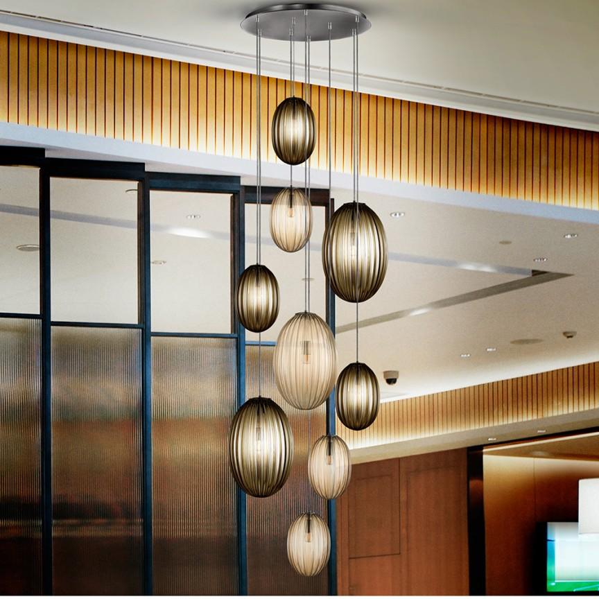 Lustra casa scarii cu 9 pendule, dimabila cu telecomanda Ovila SV-752367D , Lustre cu LED si telecomanda⭐ modele moderne pentru iluminat cu LED dormitor, living si sufragerie.✅Design decorativ 2021!❤️Promotii lampi❗ ➽www.evalight.ro. Alege oferte la corpuri de iluminat cu telecomanda dimabile 3 functii cu lumina LED RGB si intensitate reglabila, ieftine si de lux, calitate deosebita la cel mai bun pret. a
