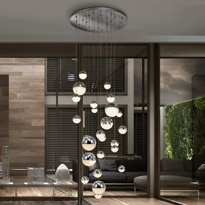 Lustra XXL LED dimabila cu telecomanda, design modern Sphere 28L crom SV-793971GD, Lustre cu LED si telecomanda⭐ modele moderne pentru iluminat cu LED dormitor, living si sufragerie.✅Design decorativ 2021!❤️Promotii lampi❗ ➽www.evalight.ro. Alege oferte la corpuri de iluminat cu telecomanda dimabile 3 functii cu lumina LED RGB si intensitate reglabila, ieftine si de lux, calitate deosebita la cel mai bun pret. a
