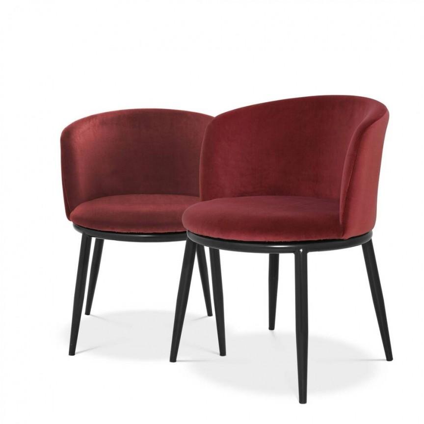 Set de 2 scaune LUX Filmore rosu 111995 HZ, Cele mai noi produse 2021 a