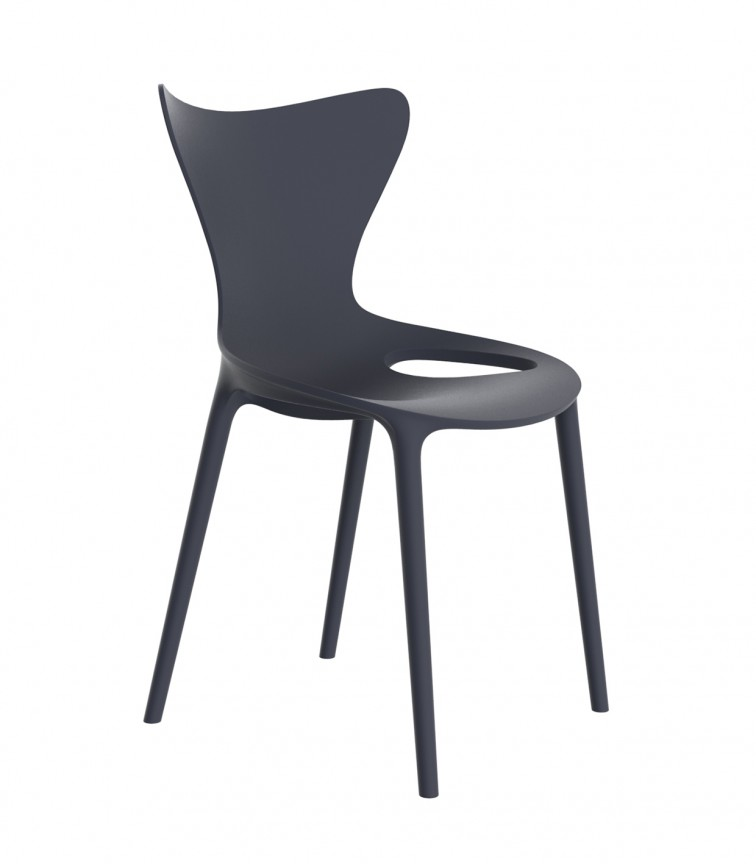 Set de 4 scaune de exterior / interior design modern premium Love 65042, Cele mai noi produse 2021 a