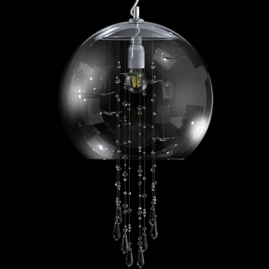 Lustra moderna Vision decorata cu fluturi si cristale Exclusive PAPILLON 03 – CH , Cele mai noi produse 2021 a