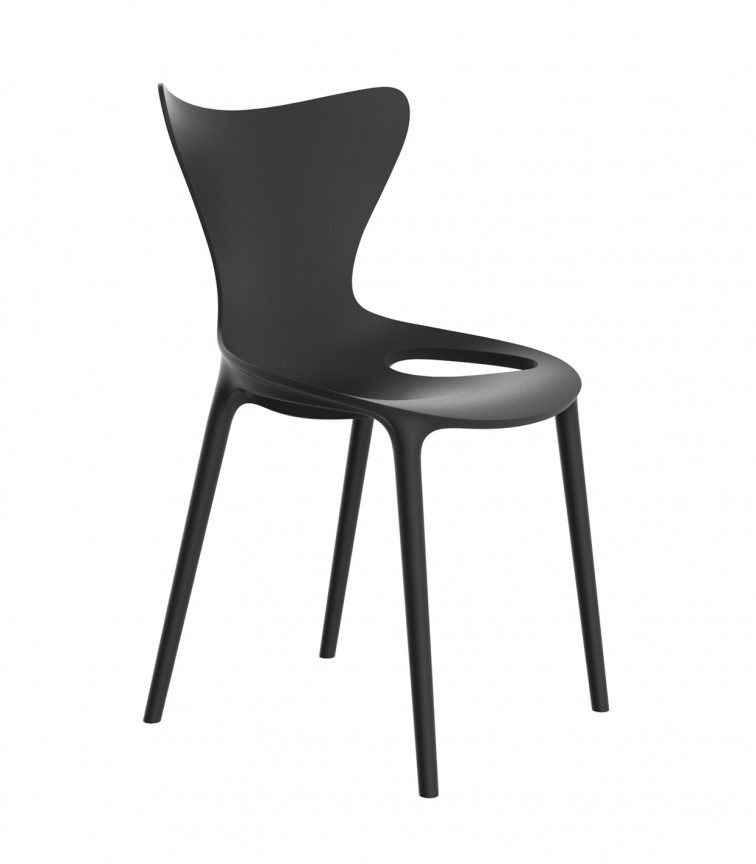 Set de 4 scaune de exterior / interior design modern premium Love, produs ecologic 65042VR, Cele mai noi produse 2021 a
