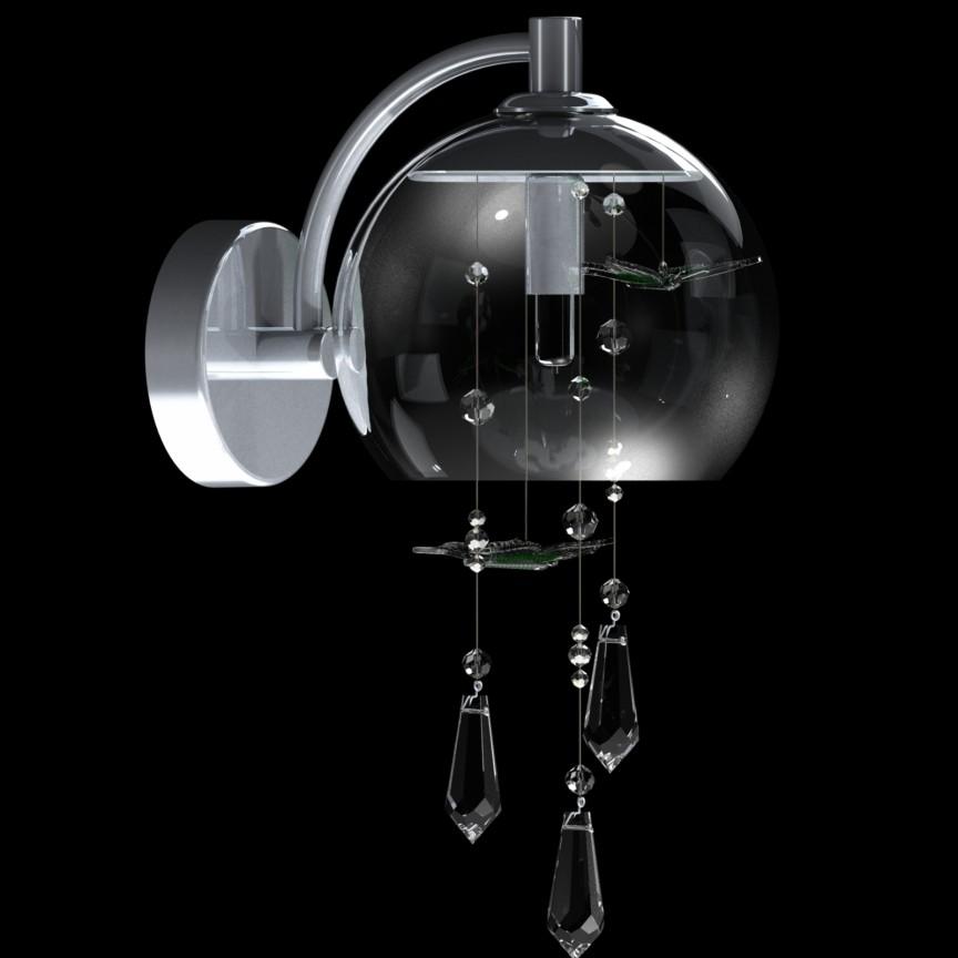 Aplica moderna Vision decorata cu fluturi si cristale Exclusive PAPILLON – WL, Cele mai noi produse 2021 a
