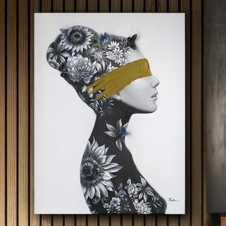 Tablou de perete decorativ canvas Perfil I, 90x120cm SV-498036, Cele mai noi produse 2021 a