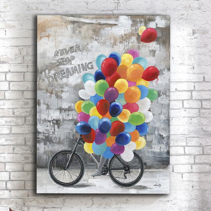 Tablou de perete decorativ canvas Dreaming, 90x100cm SV-432986, Cele mai noi produse 2021 a