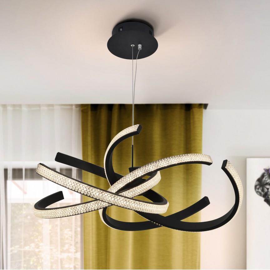 Lustra LED suspendata design modern circular Ring II SV-302975, Promotii si Reduceri⭐ Oferte ✅Corpuri de iluminat ✅Lustre ✅Mobila ✅Decoratiuni de interior si exterior.⭕Pret redus online➜Lichidari de stoc❗ Magazin ➽ www.evalight.ro. a