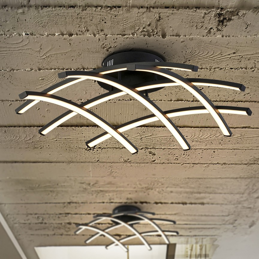 Lustra LED aplicata design modern Trama, diametru 59cm SV-797566, Promotii si Reduceri⭐ Oferte ✅Corpuri de iluminat ✅Lustre ✅Mobila ✅Decoratiuni de interior si exterior.⭕Pret redus online➜Lichidari de stoc❗ Magazin ➽ www.evalight.ro. a