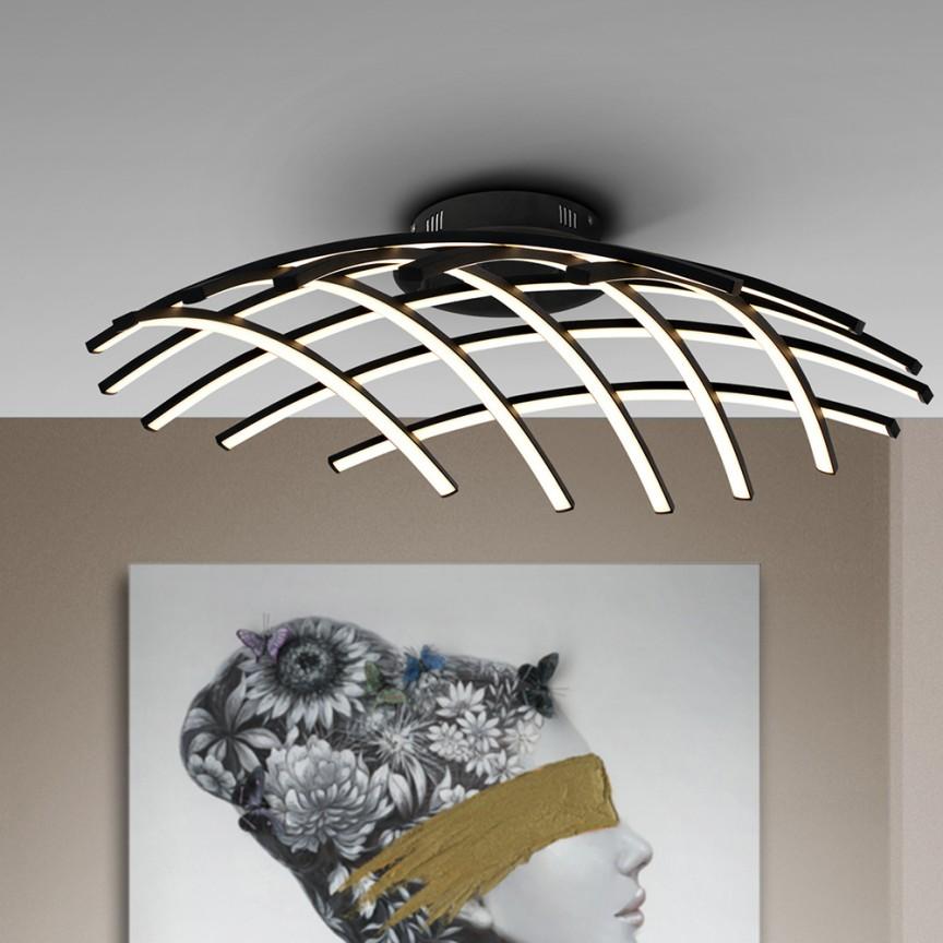 Lustra LED aplicata, dimabila, design modern Trama, diametru 86cm SV-797344, Promotii si Reduceri⭐ Oferte ✅Corpuri de iluminat ✅Lustre ✅Mobila ✅Decoratiuni de interior si exterior.⭕Pret redus online➜Lichidari de stoc❗ Magazin ➽ www.evalight.ro. a