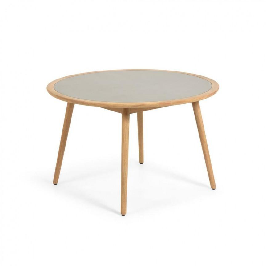 Masa rotunda din lemn de eucalipt pentru interior si exterior Glynis 120cm CC2014PR03 JG, Mese Dining moderne⭐ modele de lux din lemn sau sticla pentru sufragerie, living si bucatarie.✅DeSiGn deosebit 2021!❤️Promotii mese elegante❗ Magazin online ➽www.evalight.ro. Alege oferte la mese extensibile de 4/6/8/10/12 persoane cu scaune de tip mari si mici pliabile cu blat rotund, oval, dreptunghiular, picioare si cadru din lemn masiv, metalice cu aspect antichizat, sticla securizata, PAL melaminat lucios alb, MDF, nuc, stejar, marmura, granit, oglinda crom. Mese stil clasic, baroc, vintage, retro, industrial sau scandinav, ieftine de calitate la cel mai bun pret.   a