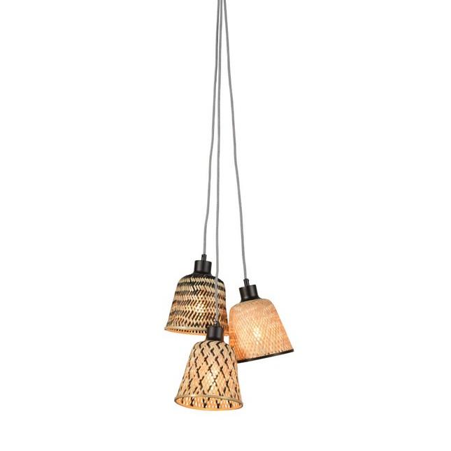 Lustra cu 3 pendule din bambus KALIMANTAN, Pendule / Lustre suspendate moderne, LED⭐ modele elegante potrivite pentru bucatarie, living dormitor.✅DeSiGn decorativ 2021!❤️Promotii lampi❗ ➽ www.evalight.ro. Alege oferte la colectile NOI de corpuri de iluminat suspendate pt interior cu stil modern, candelabre de tip suspensii (lungi) cu cristale, abajur material textil, brate tip lumanare, lemn, metal, sticla, ieftine si de lux, calitate deosebita la cel mai bun pret. a