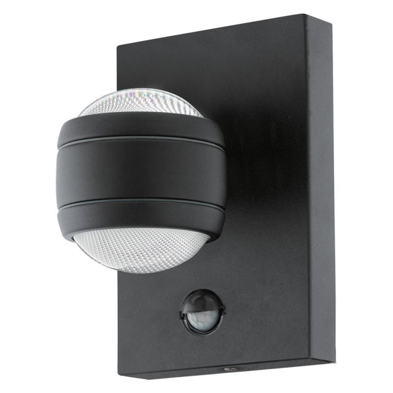 Aplica LED iluminat exterior, design modern cu senzor de miscare, IP44 SESIMBA 1 96021 EL, Iluminat cu senzor de miscare, LED⭐ modele stil decorativ potrivite pentru iluminat exterior casa, gradina si terasa.✅Design ornamental 2021!❤️Promotii lampi exterior cu senzor de miscare❗ Magazin online➽www.evalight.ro. Alege oferte la corpuri de iluminat exterior cu senzor de miscare, tip aplice exterior de perete sau tavan, plafoniere exterior, proiectoare LED fatade cladiri, stalpi iluminat si felinare cu lumina ambientala, moderne, clasice, rustice si traditionale, cu aspect retro sau vintage, industrial, solare cu panou solar, cu bec LED economic, pt iluminare curte, alei, foisoare, ieftine si de lux, calitate la cel mai bun pret. a