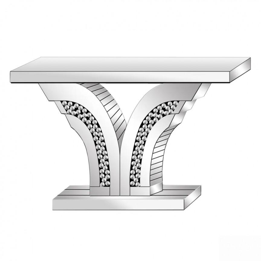 Consola design LUX placata cu oglinda, Tiffany SX-601463, Console / Birouri moderne⭐ modele de lux pentru perete hol, mobila living.❤️Promotii mese consola si birou tip consola❗ Intra si vezi poze ➽ www.evalight.ro. ➽ sursa ta de inspiratie online❗ ✅Design deosebit original premium actual Top 2020❗ Alege mese tip console din lemn, metal, sticla, cu picioare inalte, cu sertare si rafturi, oglinda: clasice in stil baroc, scandinave, minimalist, vintage retro, industrial, pt intrare casa, intra ➽vezi oferte si reduceri cu vanzare rapida din stoc, ieftine si de calitate deosebita la cel mai bun pret. a